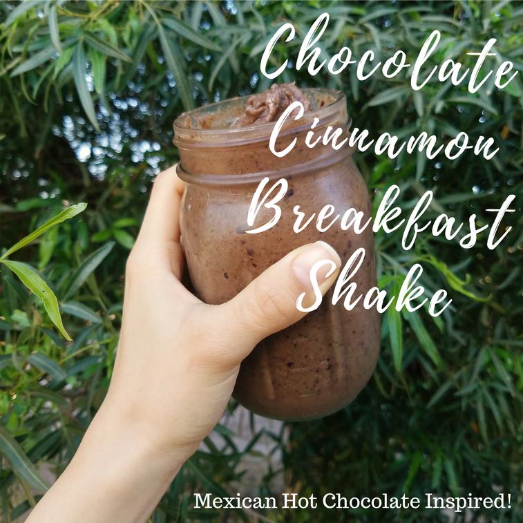 chocolate cinnamon breakfast shake
