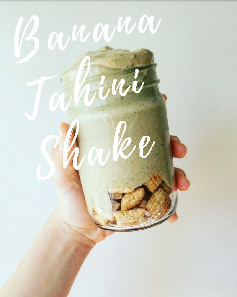 Banana Tahini Shake Header