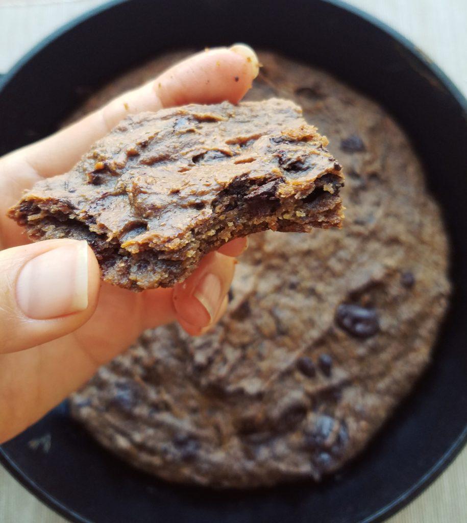 peanut power cookie skillet