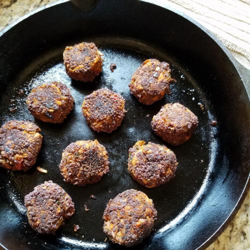 sweet and smoky meatballs