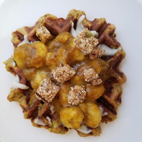 zucchini protein waffle